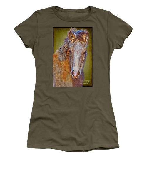 Pony Portrait  Women's T-Shirt (Athletic Fit)