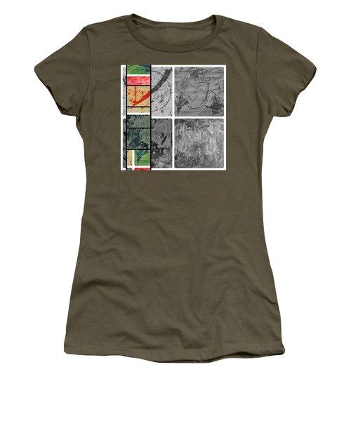Women's T-Shirt (Junior Cut) featuring the photograph Poor And Rich by Sir Josef - Social Critic - ART