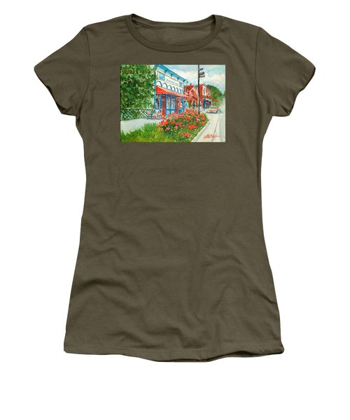 Popcorn Shop In Summer/chagrin Falls Women's T-Shirt (Athletic Fit)