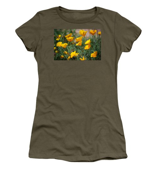 Women's T-Shirt (Junior Cut) featuring the photograph Poppies by Tam Ryan