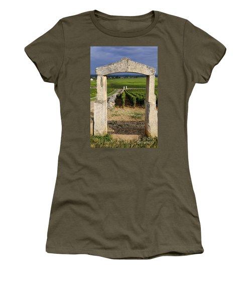 Portal  Of Vineyard.burgundy. France Women's T-Shirt