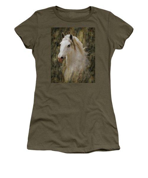 Portrait Of A Horse God Women's T-Shirt (Athletic Fit)