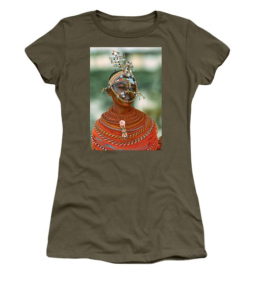 Portrait Of A Teenage Girl Smiling Women's T-Shirt