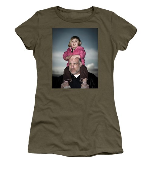 Portrait Of A Young Girl At Dusk Women's T-Shirt