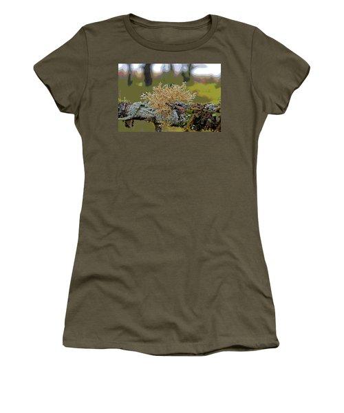 Posterized Antler Lichen Women's T-Shirt (Junior Cut) by Cathy Mahnke