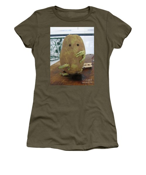 Potato Man Women's T-Shirt (Athletic Fit)