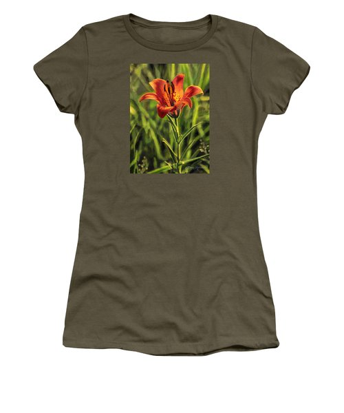 Prairie Lily Women's T-Shirt (Athletic Fit)