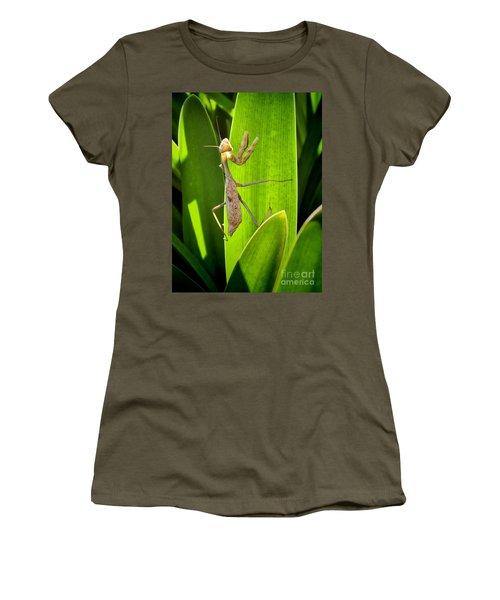 Women's T-Shirt (Junior Cut) featuring the photograph Praying Mantis by Kasia Bitner