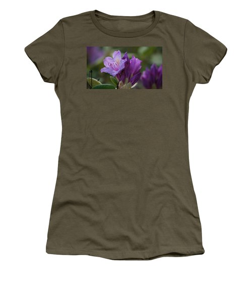 Purple Bloom Women's T-Shirt (Athletic Fit)