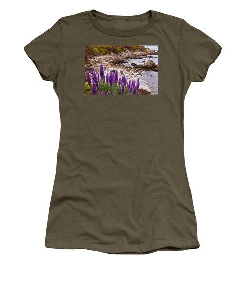 Purple California Coastline Women's T-Shirt