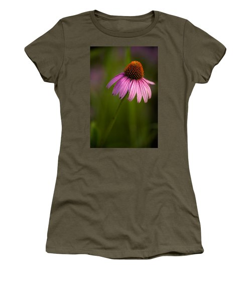 Purple Cone Flower Portrait Women's T-Shirt