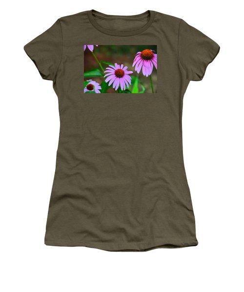 Purple Coneflower - Echinacea Women's T-Shirt (Junior Cut) by Kathy Eickenberg