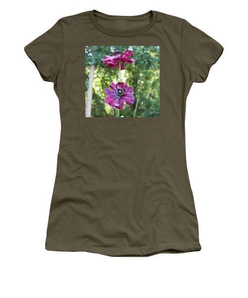 Purple Flowers Women's T-Shirt