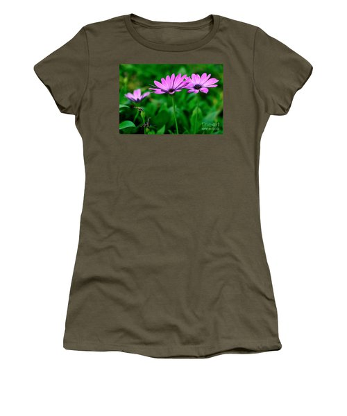 Women's T-Shirt (Junior Cut) featuring the photograph Purple Flowers by Joe  Ng