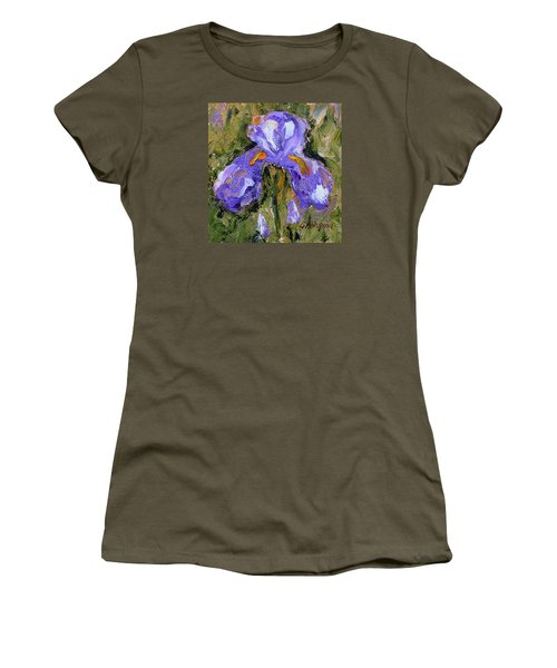 Purple Iris2 Women's T-Shirt (Athletic Fit)