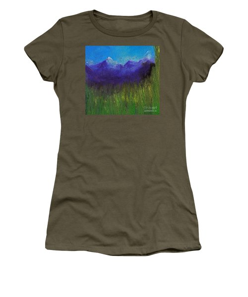 Purple Mountains By Jrr Women's T-Shirt (Athletic Fit)