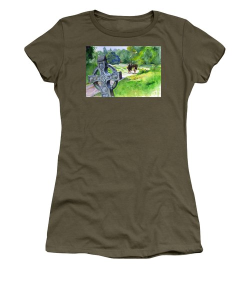 Quiet Man Watercolor 2 Women's T-Shirt (Junior Cut) by John D Benson