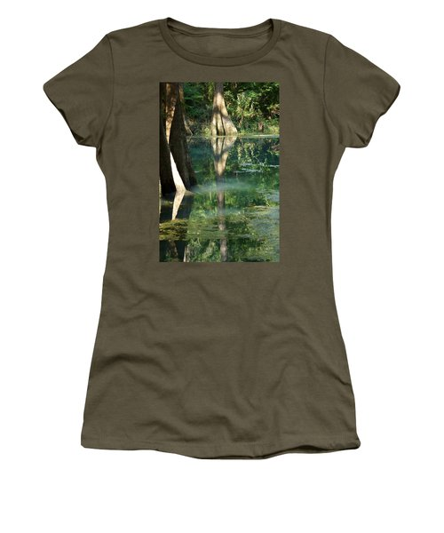 Radium Springs Creek In The Summertime Women's T-Shirt (Junior Cut) by Kim Pate