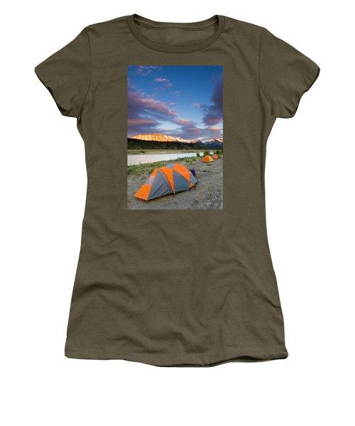 Rafters Camp Along The Alsek River Women's T-Shirt