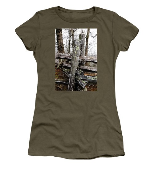 Rail Fence With Ice Women's T-Shirt