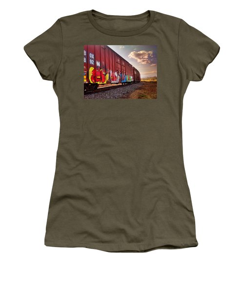 Railways Women's T-Shirt (Athletic Fit)