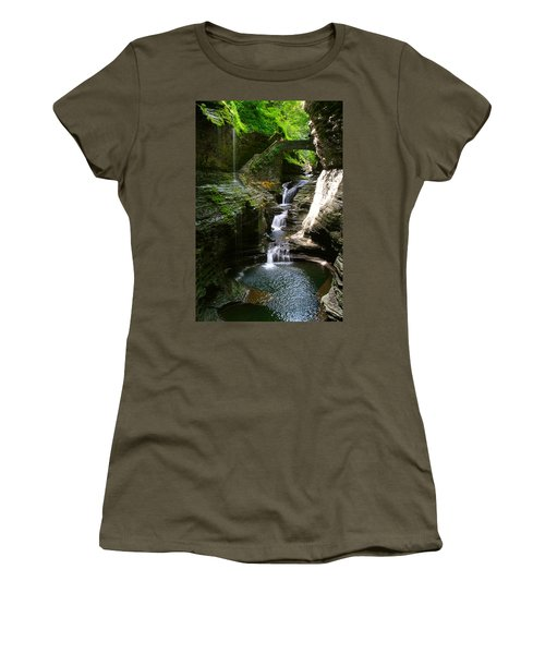 Rainbow Bridge And Falls Women's T-Shirt (Athletic Fit)
