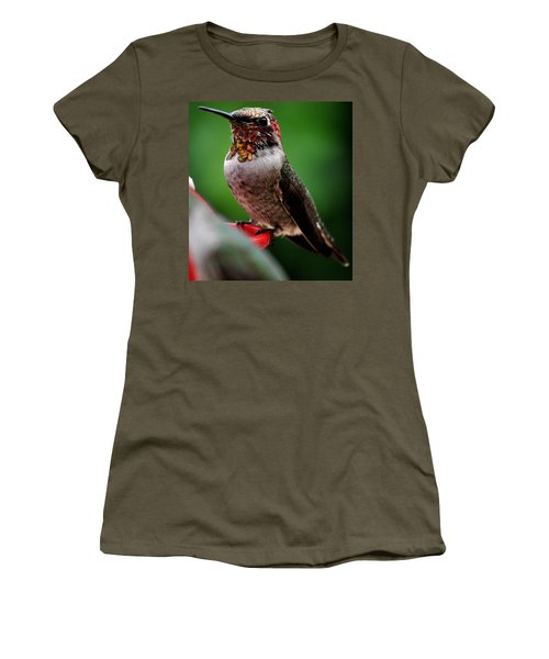 Women's T-Shirt (Junior Cut) featuring the photograph Rainbow Colored Male Anna by Jay Milo