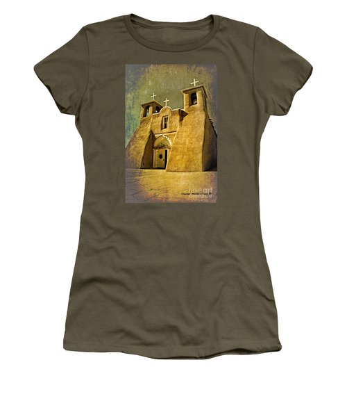 Ranchos Church In Old Gold Women's T-Shirt (Athletic Fit)