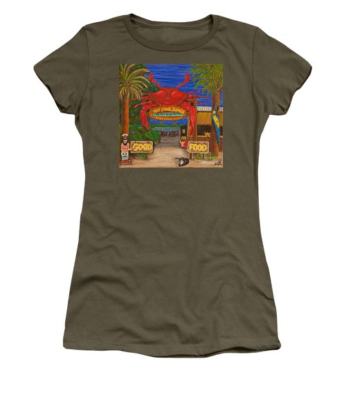 Ready For The Day At The Crab Shack Women's T-Shirt (Athletic Fit)