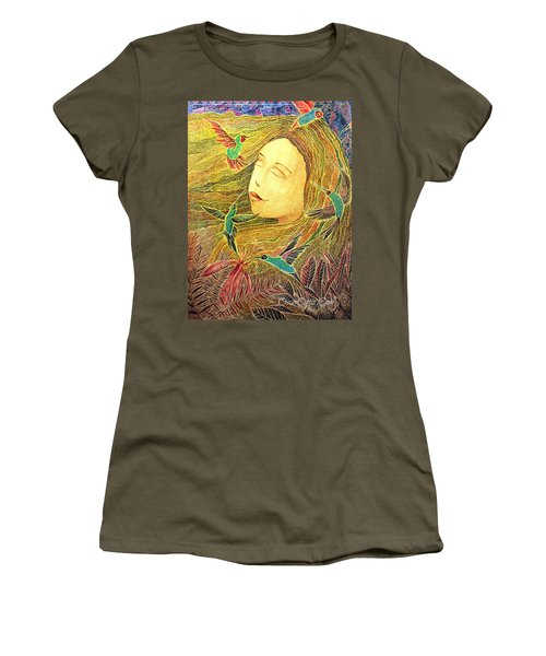 Women's T-Shirt featuring the painting Recordando A Puerto Rico by Oscar Ortiz
