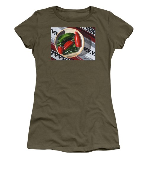 Red And Green Peppers Women's T-Shirt