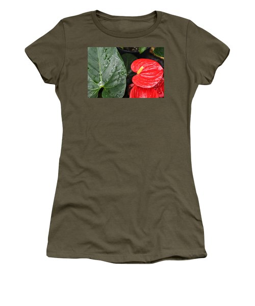 Red Anthurium Flower Women's T-Shirt