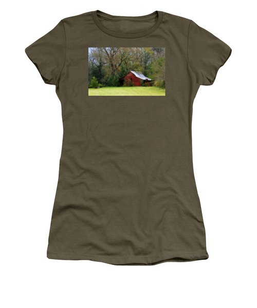 Red Barn Women's T-Shirt (Athletic Fit)