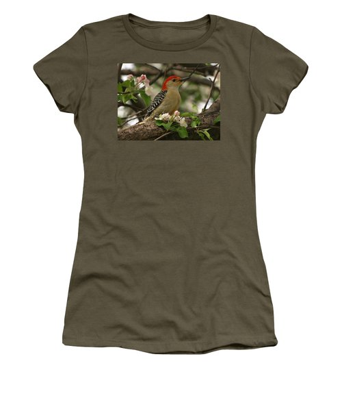 Women's T-Shirt (Junior Cut) featuring the photograph Red-bellied Woodpecker by James Peterson