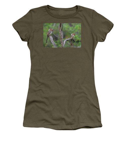 Red-billed Hornbills Women's T-Shirt (Junior Cut) by Bruce J Robinson