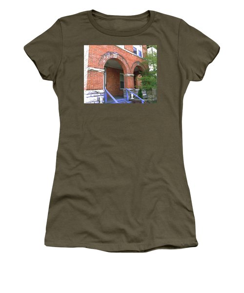Women's T-Shirt (Junior Cut) featuring the photograph Red Brick Archway by Becky Lupe
