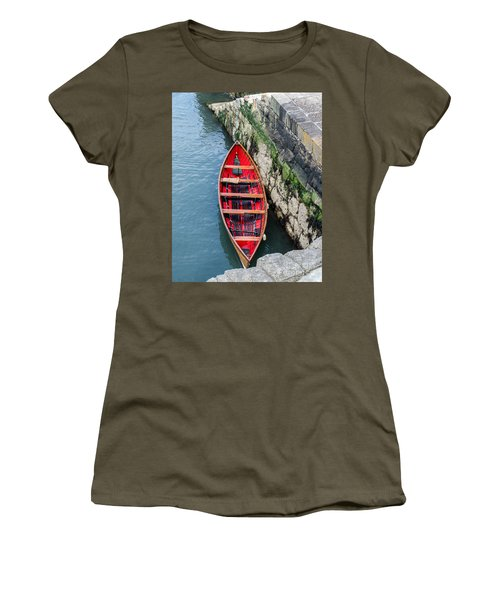 Red Canoe Women's T-Shirt (Junior Cut) by Mary Carol Story