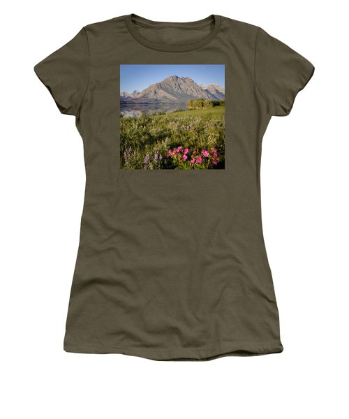 Women's T-Shirt (Junior Cut) featuring the photograph Red Eagle Mountain by Jack Bell