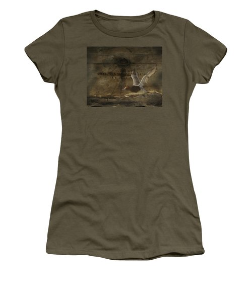 Red Head Duck Old Box Women's T-Shirt (Athletic Fit)