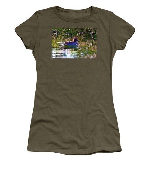 Red Headed Duck Women's T-Shirt (Junior Cut) by Susan Garren