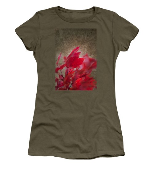 Women's T-Shirt featuring the photograph Red Maple Dreams by Jeff Folger
