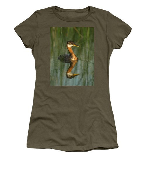 Women's T-Shirt (Junior Cut) featuring the photograph Red-necked Grebe by James Peterson