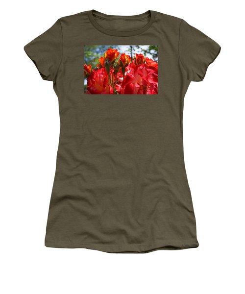 Red Orange Roses Art Prints Floral Photography Women's T-Shirt