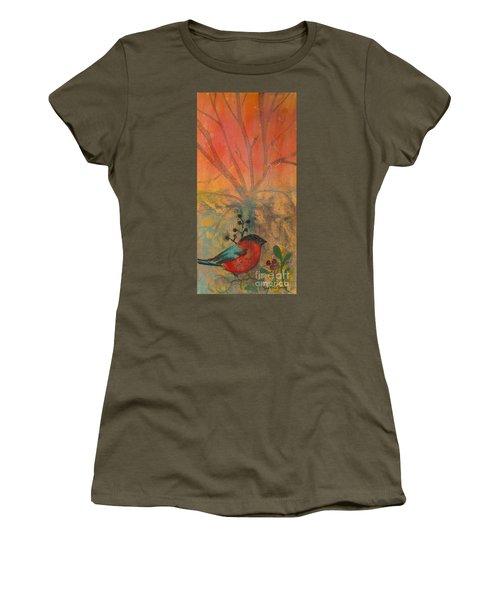 Red Peace Bird Women's T-Shirt