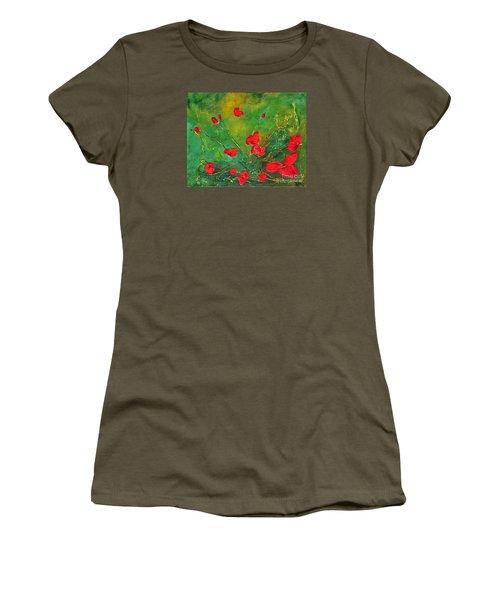 Red Poppies Women's T-Shirt (Junior Cut) by Teresa Wegrzyn