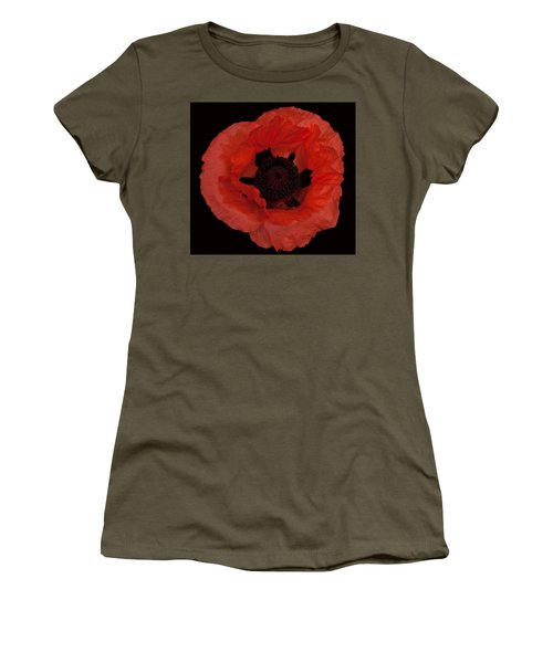 Red Poppy Women's T-Shirt (Athletic Fit)