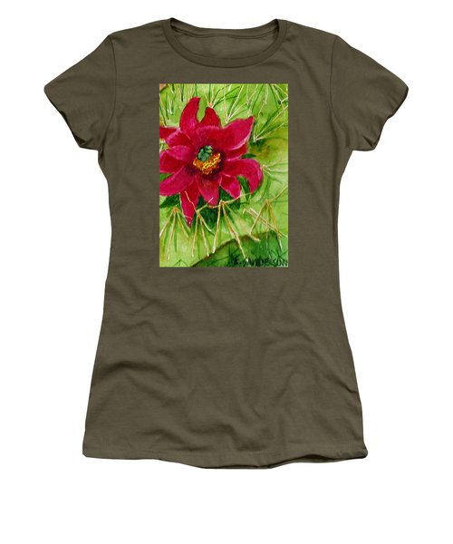 Red Prickly Pear Women's T-Shirt (Athletic Fit)