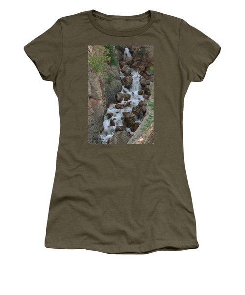 Red Rock Falls Women's T-Shirt (Athletic Fit)