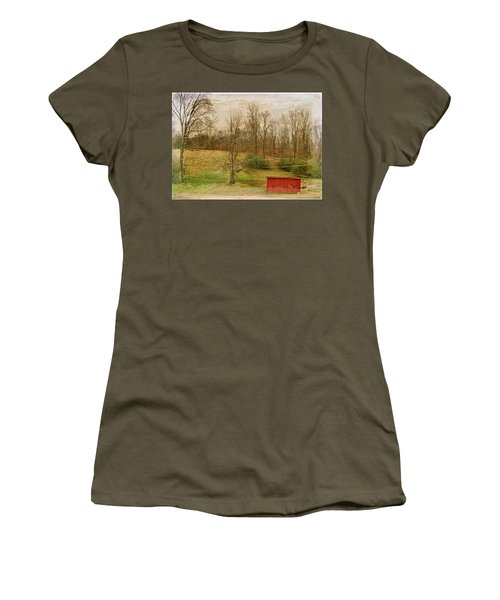 Red Shed Women's T-Shirt (Junior Cut) by Paulette B Wright
