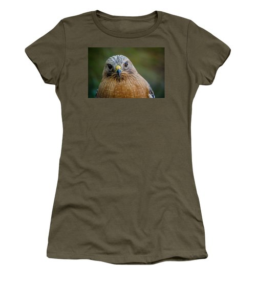 Red Shouldered Hawk Women's T-Shirt (Athletic Fit)